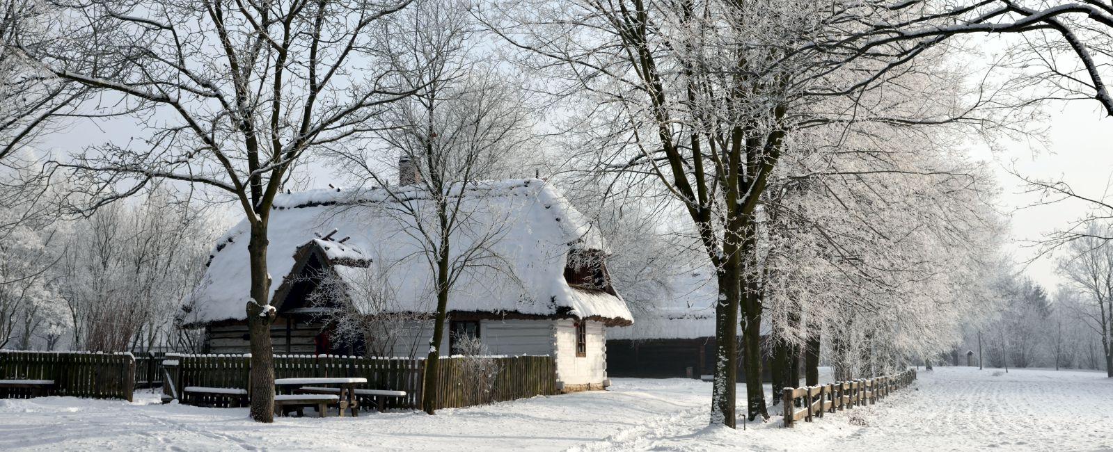 Zima w skansenie